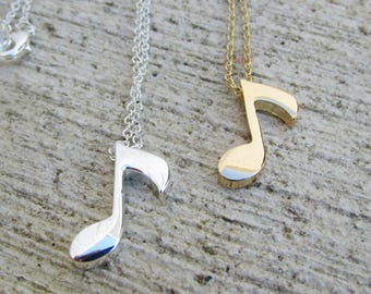 Music Note Necklace, Clef Necklace, Musical Note Necklace, Treble Clef Necklace, Musical Note Jewelry, Music Lover Gift, Music Jewelry