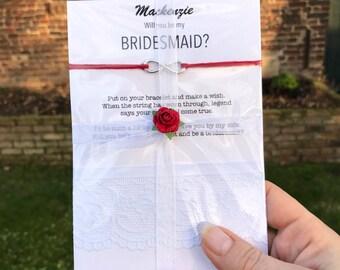 Will you be my bridesmaid, Asking bridesmaids, Bridesmaid invite, Bridesmaid wish bracelet, Bridesmaid proposal,  be my Bridesmaid, B3