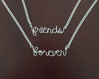 Friendship 'Friends Forever' necklace set