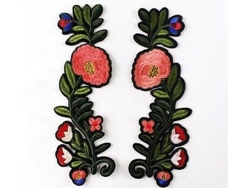 a pair rose patch flower patch embroidered patch iron on patch cute patch iron on patch sew on patch