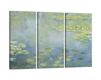 On canvas Claude Monet's Waterlilies frame