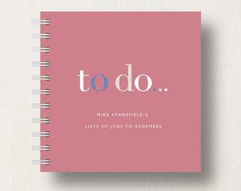 Personalised 'To Do' Lists Small Notebook