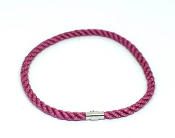 Rope Necklace BDSM collar Pink