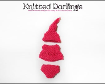 Elf baby Clothing 3 piece set by Knitted Darlings #5
