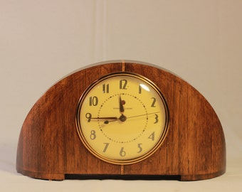 Vintage General Electric Mantel Clock Mid Century Modern Deco Style