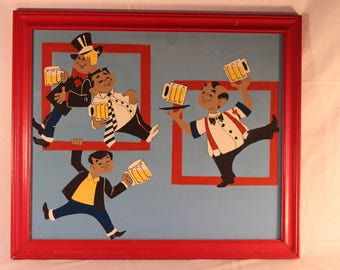 Vintage Bartenders Painting