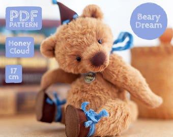 Artist Teddy bear pattern, teddy bear, teddy bear pattern, teddy pattern, stuffed toy pattern, 17 cm