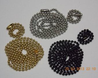 Custom Military Dog Tag chains. set of 3. Accessories for Men. Accessories for Women. Accessories for Kids.