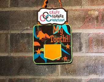 READY TO SHIP-mustache tooth fairy door hanger-mustache themed tooth fairy-