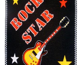 Rock Star Guitar Blanket Throw