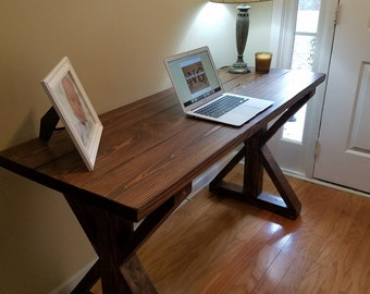 Farmhouse Rustic X Wood Desk