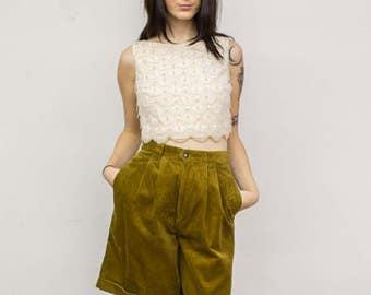 Vintage GAP Golden Yellow Corduroy Shorts