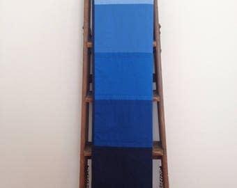 Blue Baby Quilt - Blue Ombre quilt - Modern Homemade Quilt