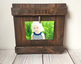 Picture Frame - Fathers Day Gift - Rustic Home Decor - Rustic Frames - Wood Frame - Wall Art - 4x6 Picture Frame - Farmhouse Decor - Frame