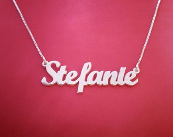 Personalized Name Necklace Custom Name Necklace For Her Stefanie Necklace Personalized Jewelry For Her Personalized Necklace Sterling Silver