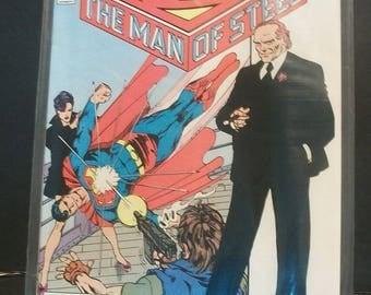 1986 Superman The Man Of Steel #4  Lex Luthor Strikes John Bryne Updated Retelling Miniseries VG-VF Vintage DC Comic Book
