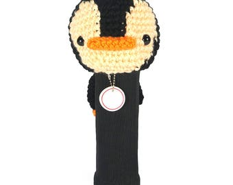 Hand Stitched Yarn Animal Driver/Wood Golf Head Cover - Penguin