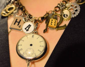 Steampunk Amy Labbe Necklace Wire Wrap Cosplay necklace OOAK  Bib Necklace Charm Necklace