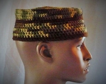 Camouflage Warm Kufi, Crown, or Hat! Wear It To The Side or Any Flair You Desire.