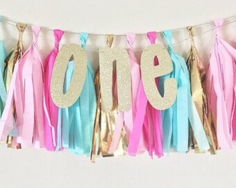 First Birthday Tassel Banner