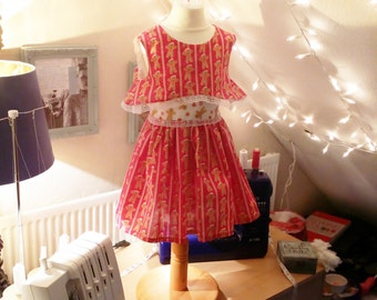 Girls Christmas Flare Top Dress (4 - 5 Y)