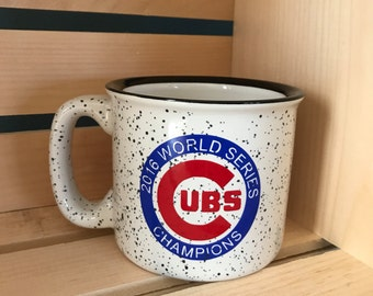 Chicago Cubs World Series campfire mug//Chicago Cubs//World Series 2016//coffee cup