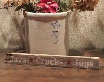 Reclaimed Wood Shelf Sitter - Jars*Crocks*Jugs
