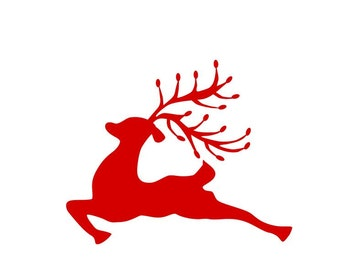 Simple Cut Reindeer SVG, DXF, EPS, Ps, Ai and Pdf Cutting Files for Electronic Cutting Machines
