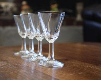 Set of 4 Vintage Shot Glasses