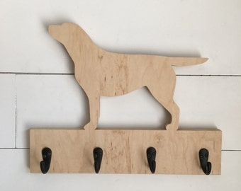 Labrador Retriever Leash and Key Holder sign