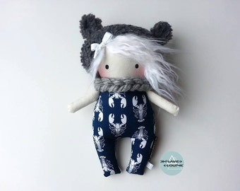 Small rag doll, art doll, plush, model name: bash