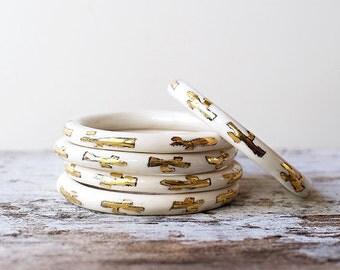 Porcelain Bangle, Ceramic Bangle, Bangle, Porcelain Jewellery *SMALL*