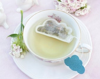 Tea Bags Cloud Shaped (5) - blue and sparkle - breakfast - zen