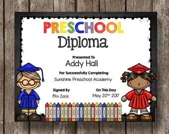 50% OFF SALE Pre-K Diploma Graduation Printable