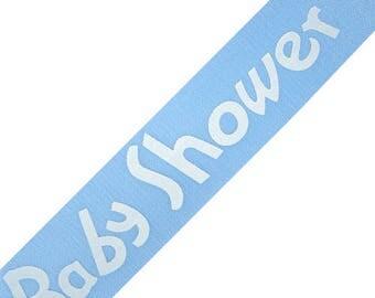 "CLEARANCE - 2 ROLLS LEFT! 5/8"" Blue Baby Shower Ribbon - 25 Yard Rolls"