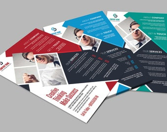 Corporate Flyer Template | 3 Color Business Flyer Template | Photoshop and Ms Word Template, Instant Download