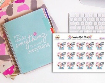Lazy Day Sloth Planner Sticker Sheet