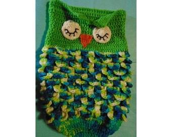 Pattern  /Baby / Owl / Cocoon / Crochet / Pattern / 2 versions of pattern - photo & written / PDF