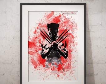 Wolverine Print X-men Superhero Wolverine Art Wolverine Poster X-men Illuatration Art
