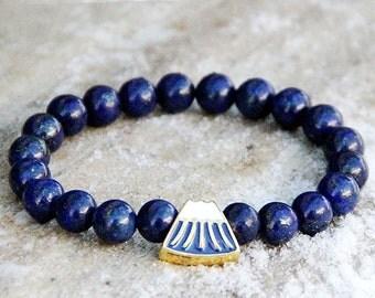 mens bracelet Gift for men bracelet for men Mountains Jewelry Mountains bracelet Healing bracelet lapis lazuli Jewelry lapis lazuli Bracelet