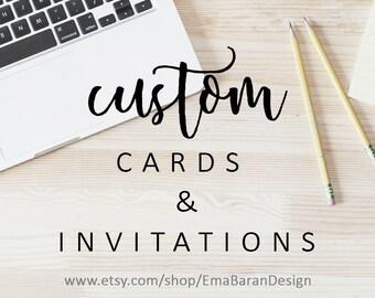 Custom Invitation, Cards and Invitations, Custom Invite, Invitation Design, branding design, Printable Digital File   EmaBaranDesign