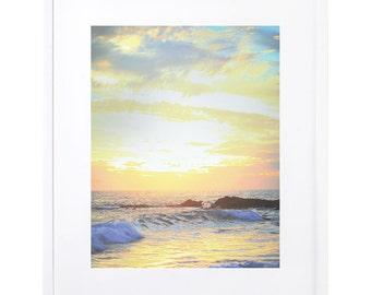 Sunset Photography, Beach Decor, Digital Download, Printable Art, Beach Photography, Sunset Photo, Laguna Beach, Wave Photography