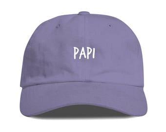 Lavender PAPI Dad Hat Low Profile Unstructured Baseball Cap Embroidered Dad Hats Baseball Hat Champagne Papi Strapback
