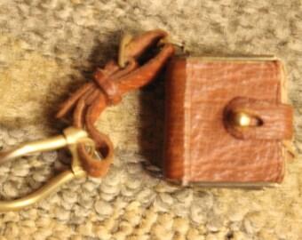 Aged Leather Bound Mini Pocket Journal