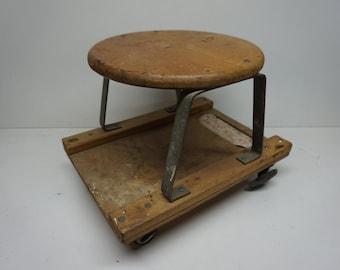 Vintage E-Z Seat Mechanics Creeper Car Creeper Repair Shop Wheeled Garage Chair & Vintage mechanics creeper   Etsy islam-shia.org