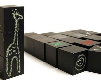 Wooden blocks for chalk drawing