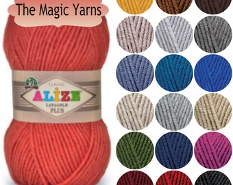 Alize LANAGOLD PLUS-  yarn, wool blend, ARAN, worsted weight knitting yarn, wool crochet yarn