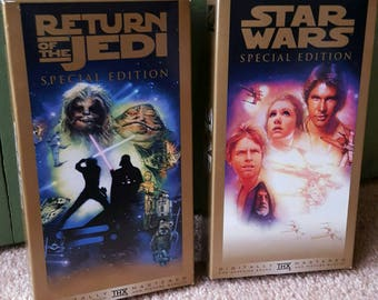 Two Star Wars Special Edition VHS tapes