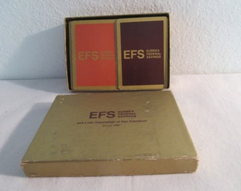 "Vintage Playing Cards by ""EFS Eureka Federal Savings"""