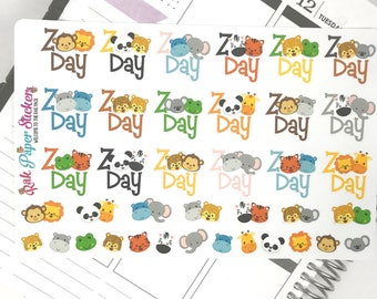 Zoo Day! - trip to the zoo - set of 38 stickers for your Erin Condren, Inkwell Press, Happy Planner or other calendar or planner!